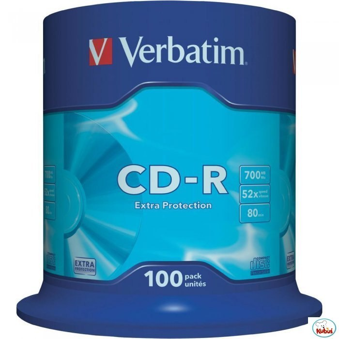 Płyta CD-R VERBATIM CAKE(100) Extra Protection 700MB x52 43411