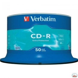 Płyta CD-R VERBATIM CAKE(50) Extra Protection 700MB x52 43351