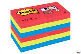 Bloczki 3M POST-IT 51x51mm BORA BORA 12x90k Super Sticky 70005253557