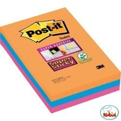 Bloczki 3M POST-IT 101x152mm BANGKOK 3x90k Super Sticky linie 70005271997