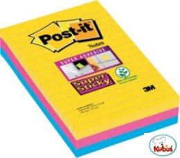 Bloczki 3M POST-IT 101x152mm RIO 3x90k Super Sticky linia 70005271971