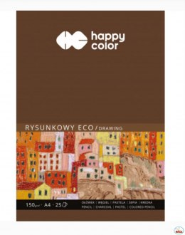 Blok rysunkowy ECO A4 25ark. 150g HAPPY COLOR HA 3715 2030-A25