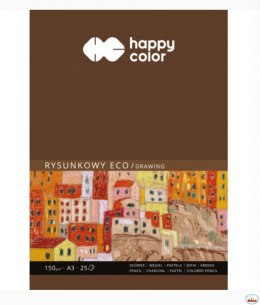 Blok rysunkowy ECO art A3 25ark. 150g.200g HA 3715 3040-A25 HAPPY COLOR
