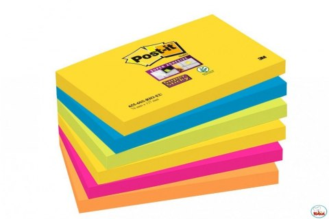 Bloczki 3M POST-IT 76x127mm RIO 6x90k Super Sticky 70005251320