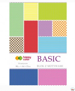 Blok z motywami BASIC 80g. A4 15ark. HA 3808 2030-A Happy Color