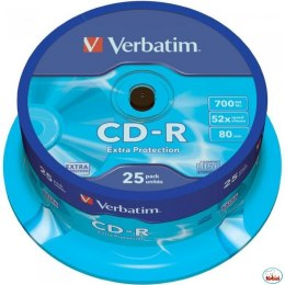 Płyta CD-R VERBATIM CAKE(25) Extra Protection 700MB x52 43432