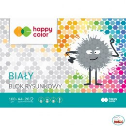Blok rysunkowy HAPPY COLOR biały A4 20ark. HA 3710 2030-0